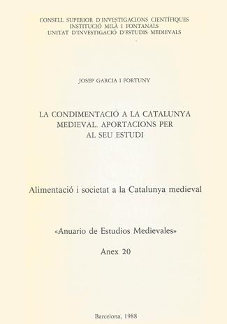 La condimentació a la Catalunya Medieval