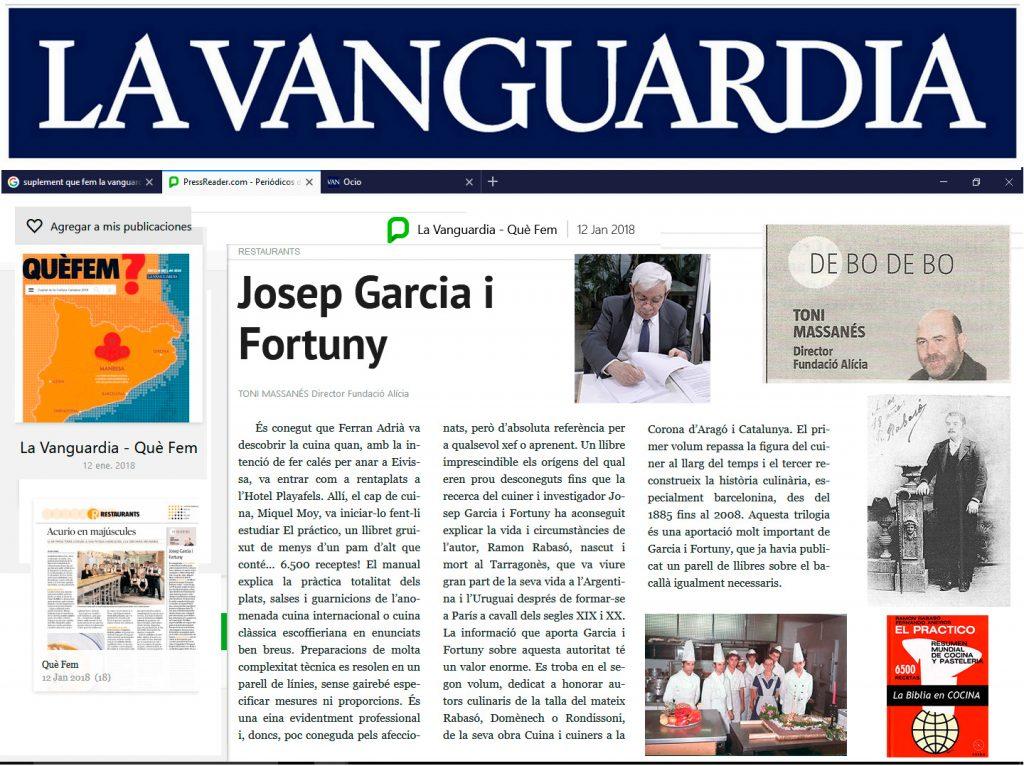 Article a diari La Vaguardia de Toni Massanés - Director de la Fundació Alicia
