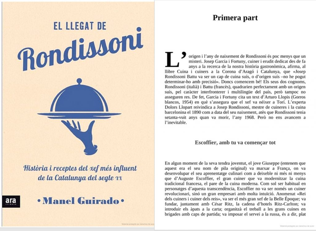 El llegat de Rondissoni -Manel GUIRADO I CABEZAS