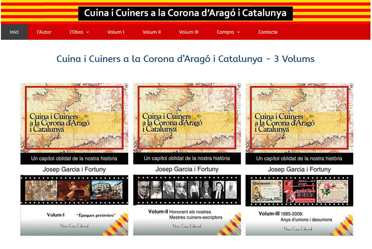 Web de l'obra Cuina i Cuiners a la Corona d'Aragó i Catalunya